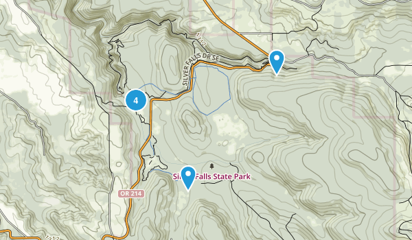 Silverton, Oregon Walking Map