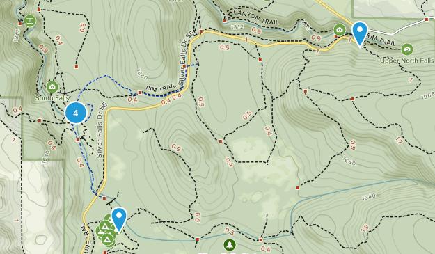 Silverton, Oregon Waterfall Map