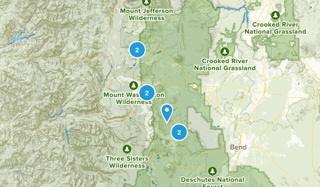 Sisters, Oregon Backpacking Map