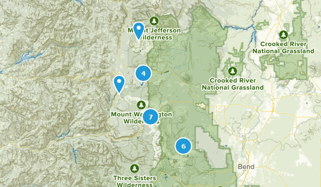 Sisters, Oregon Bird Watching Map