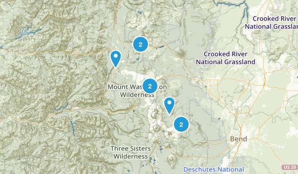 Sisters, Oregon Camping Map