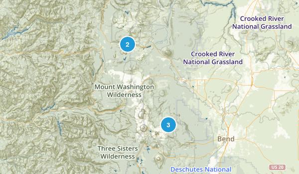 Sisters, Oregon Horseback Riding Map