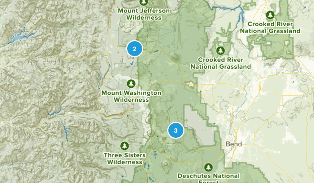 Sisters, Oregon Horseback Riding Map