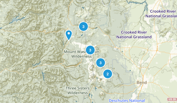 Sisters, Oregon Nature Trips Map