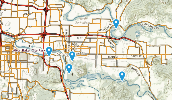 Springfield, Oregon Birding Map