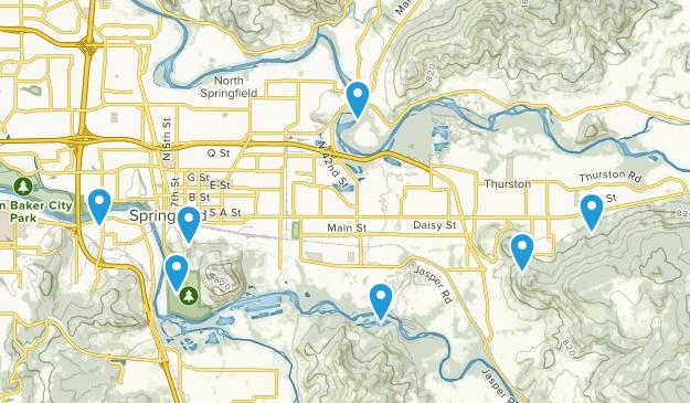 Springfield, Oregon Dogs On Leash Map