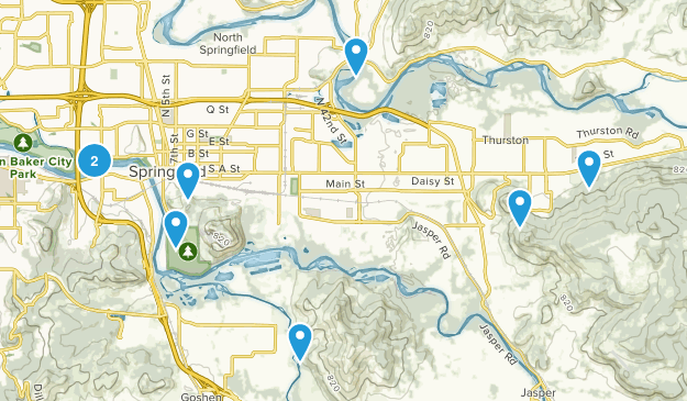 Springfield, Oregon Nature Trips Map