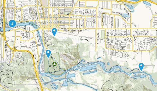 Springfield, Oregon River Map