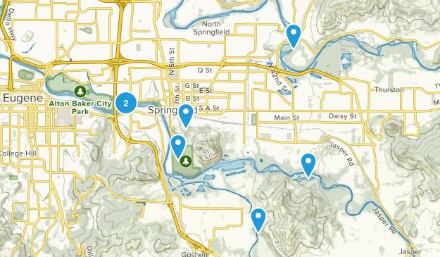 Springfield, Oregon Views Map