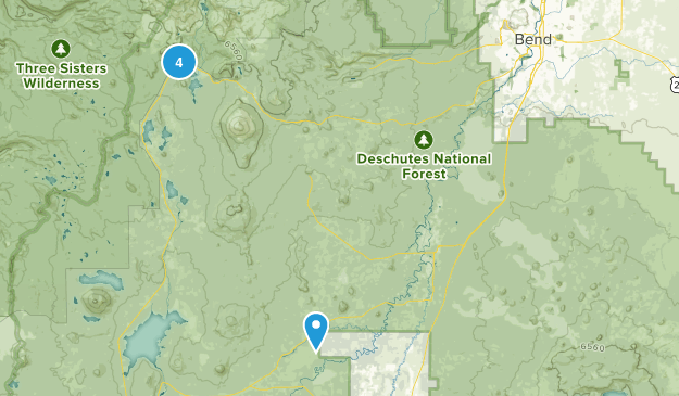 Sunriver, Oregon Camping Map