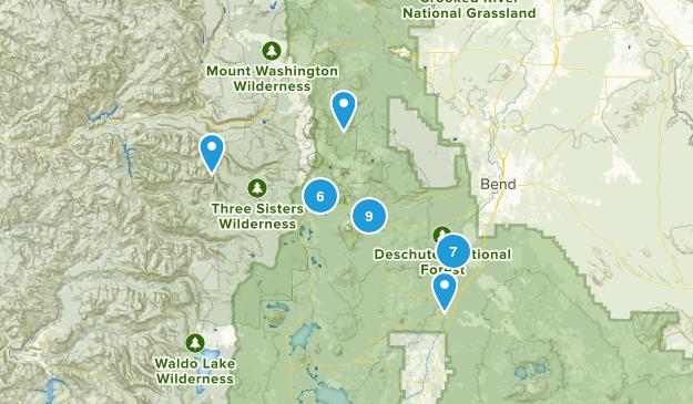 Sunriver, Oregon Forest Map