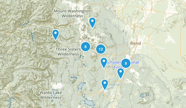 Sunriver, Oregon Hiking Map
