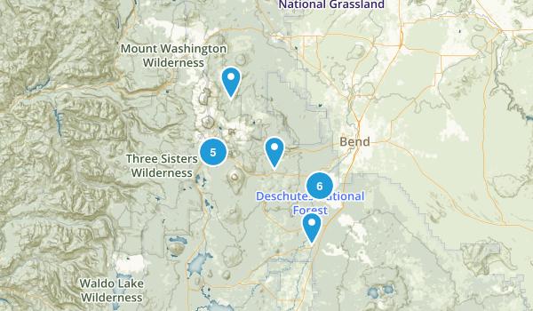 Sunriver, Oregon Trail Running Map