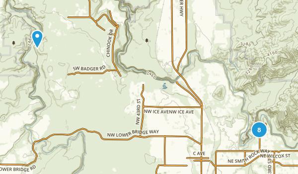 Terrebonne, Oregon River Map