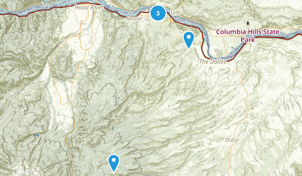 The Dalles, Oregon Forest Map