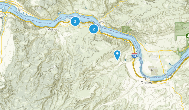 The Dalles, Oregon Nature Trips Map