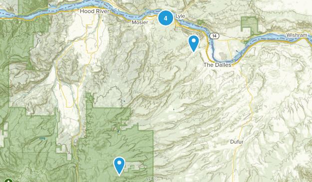 The Dalles, Oregon Views Map