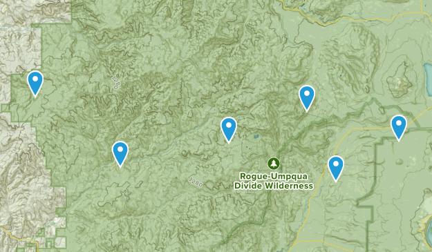 Tiller, Oregon Dogs On Leash Map