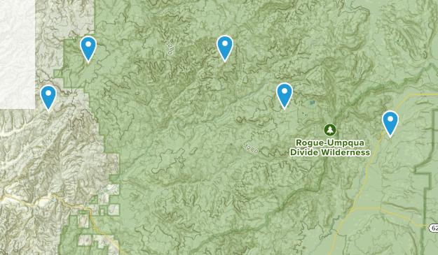Tiller, Oregon Hiking Map