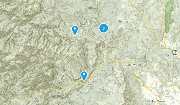 Timber, Oregon Hiking Map