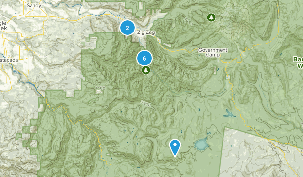 Welches, Oregon Forest Map