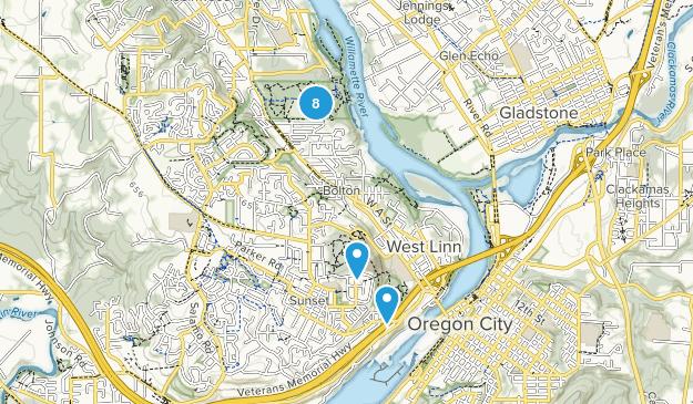 West Linn, Oregon Hiking Map