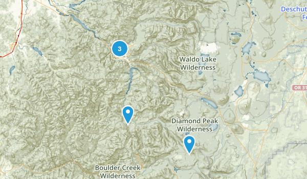 Westfir, Oregon Forest Map