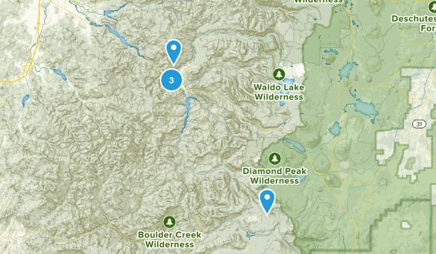 Westfir, Oregon Hiking Map