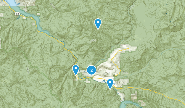 Westfir, Oregon Hiking Map