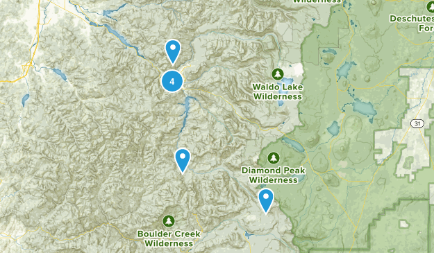 Westfir, Oregon Mountain Biking Map