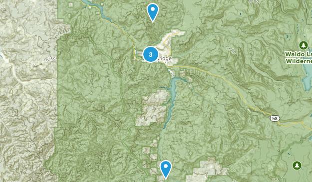 Westfir, Oregon Views Map