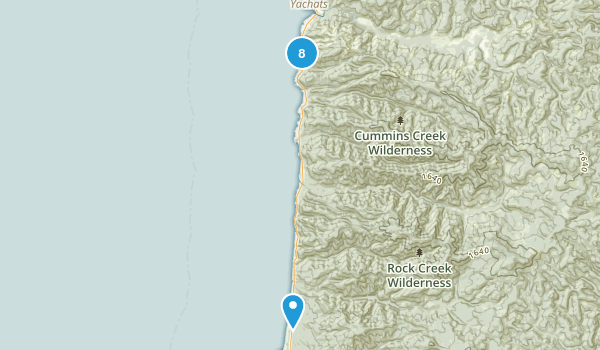 Yachats, Oregon Forest Map
