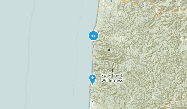 Yachats, Oregon Walking Map