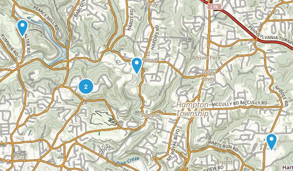 Allison Park, Pennsylvania Hiking Map