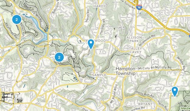 Allison Park, Pennsylvania Mountain Biking Map