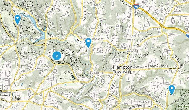 Allison Park, Pennsylvania Walking Map