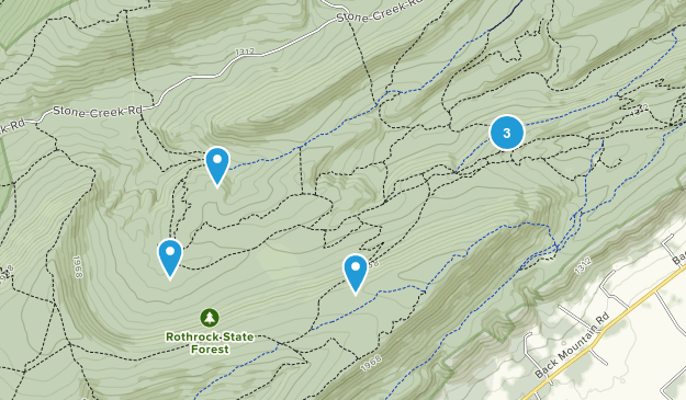 Barrville, Pennsylvania Hiking Map