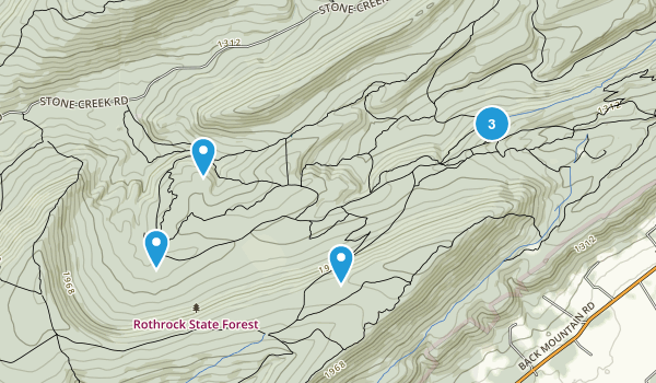 Barrville, Pennsylvania Walking Map