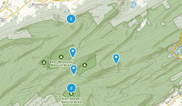 Boalsburg, Pennsylvania Hiking Map