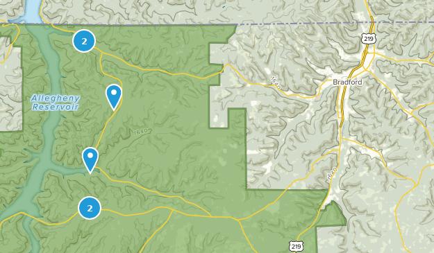 Bradford, Pennsylvania Camping Map