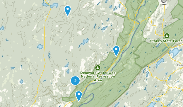 Bushkill, Pennsylvania Bird Watching Map