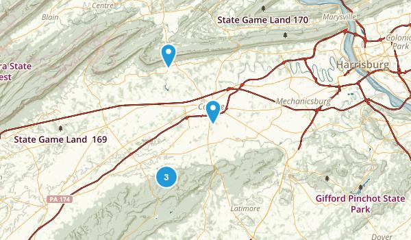 Carlisle, Pennsylvania Dogs On Leash Map