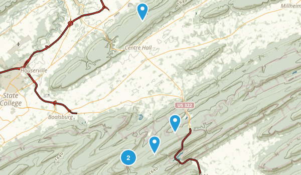 Centre Hall, Pennsylvania Walking Map