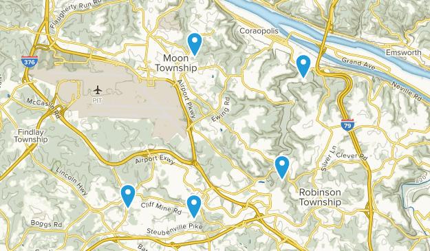 Coraopolis, Pennsylvania Hiking Map