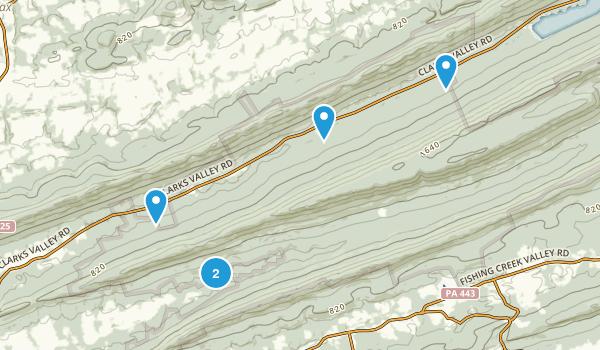 Dauphin, Pennsylvania Hiking Map