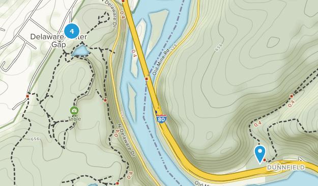 Delaware Water Gap, Pennsylvania Hiking Map