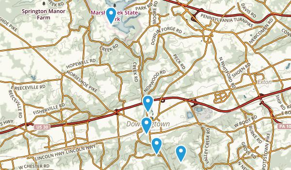 Downingtown, Pennsylvania Hiking Map