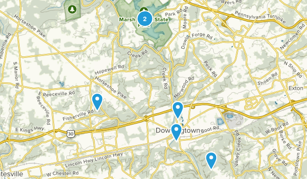 Downingtown, Pennsylvania Walking Map