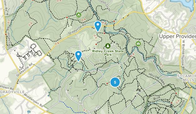 Edgmont, Pennsylvania Forest Map