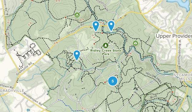 Edgmont, Pennsylvania Hiking Map